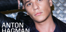 Single sleeve of 'Kiss You Goodbye' with Anton Hagman